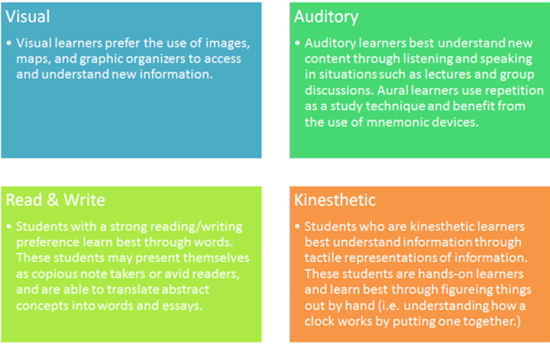 7 Different Types Of Learning Styles Infographic - e ...
